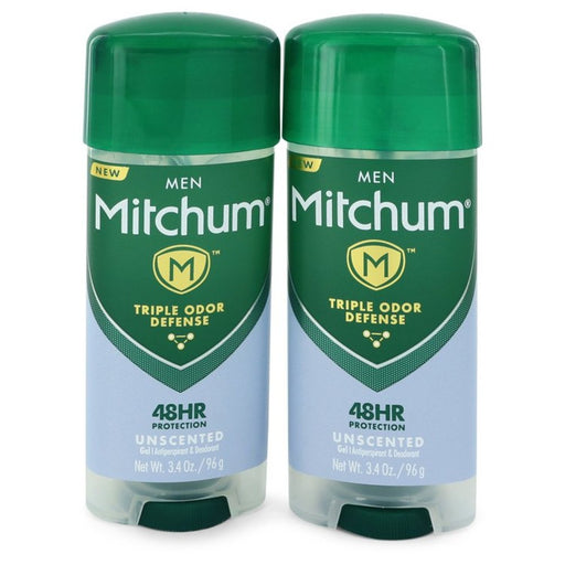 Mitchum Unscented Anti-perspirant and Deodorant Gel By Mitchum Twin Pack Includes 2 Unscented Triple Odor Defense Anti-perspirant and Deodorant Gel 3.4 Oz For Men
