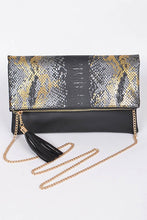 Load image into Gallery viewer, Black & Gold Clutch