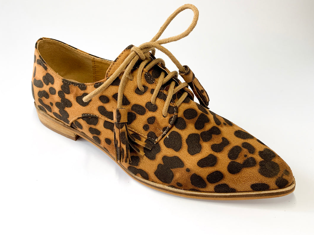 Women's Leopard Print Oxford Loafers