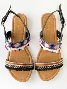 Women's Multi Colored Flat Sandals