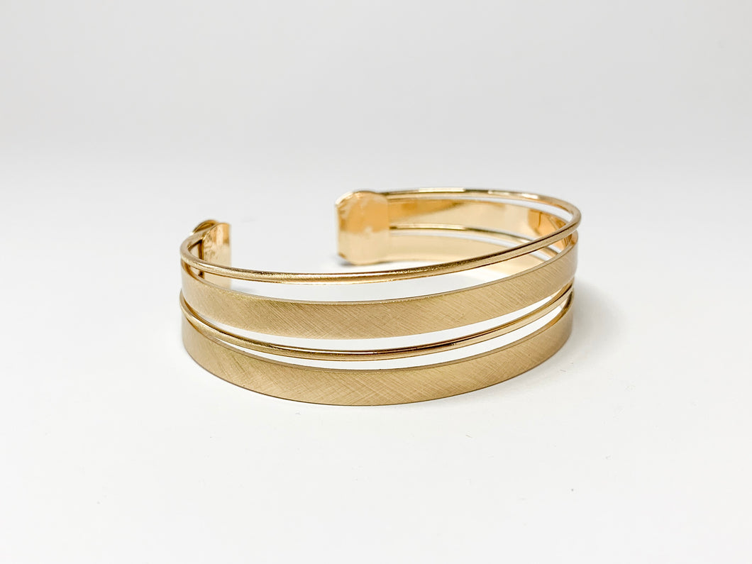 Brushed Gold Bracelet