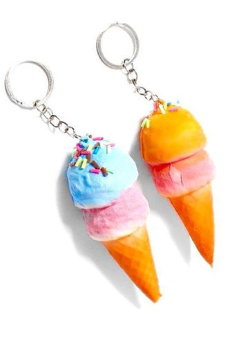 Ice Cream Cone Squishy Keychain
