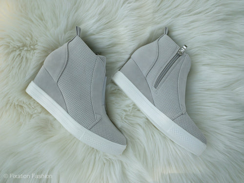 Gray Zoey Wedge Sneakers