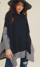 Load image into Gallery viewer, Black and White Striped Sweater