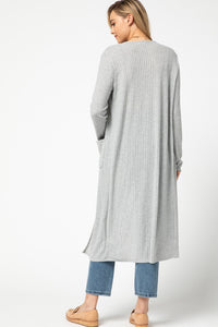 Long Sleeve Gray Duster