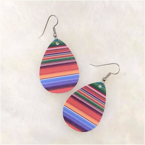 Serape Leather Earrings