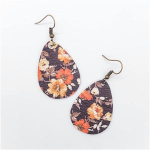 Fall Floral Earrings