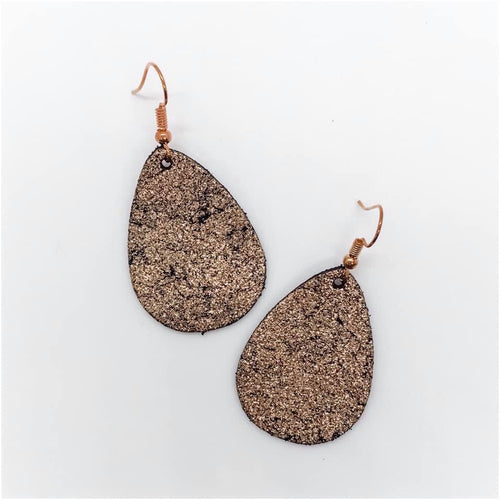 Fall Brown Glitter Earrings