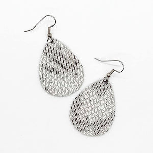 Gray Snake Earrings