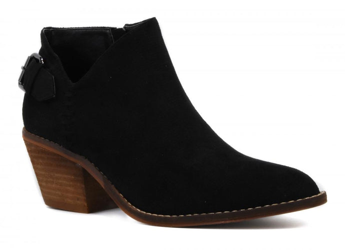 Black Buckle Bootie