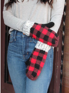 Red Buffalo Plaid Mittens