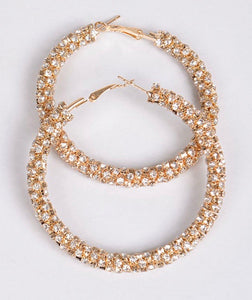 Gold Glam Hoops