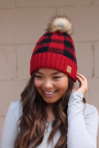 Red Buffalo Plaid Hat