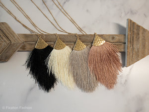 Fringe and Gold Necklace