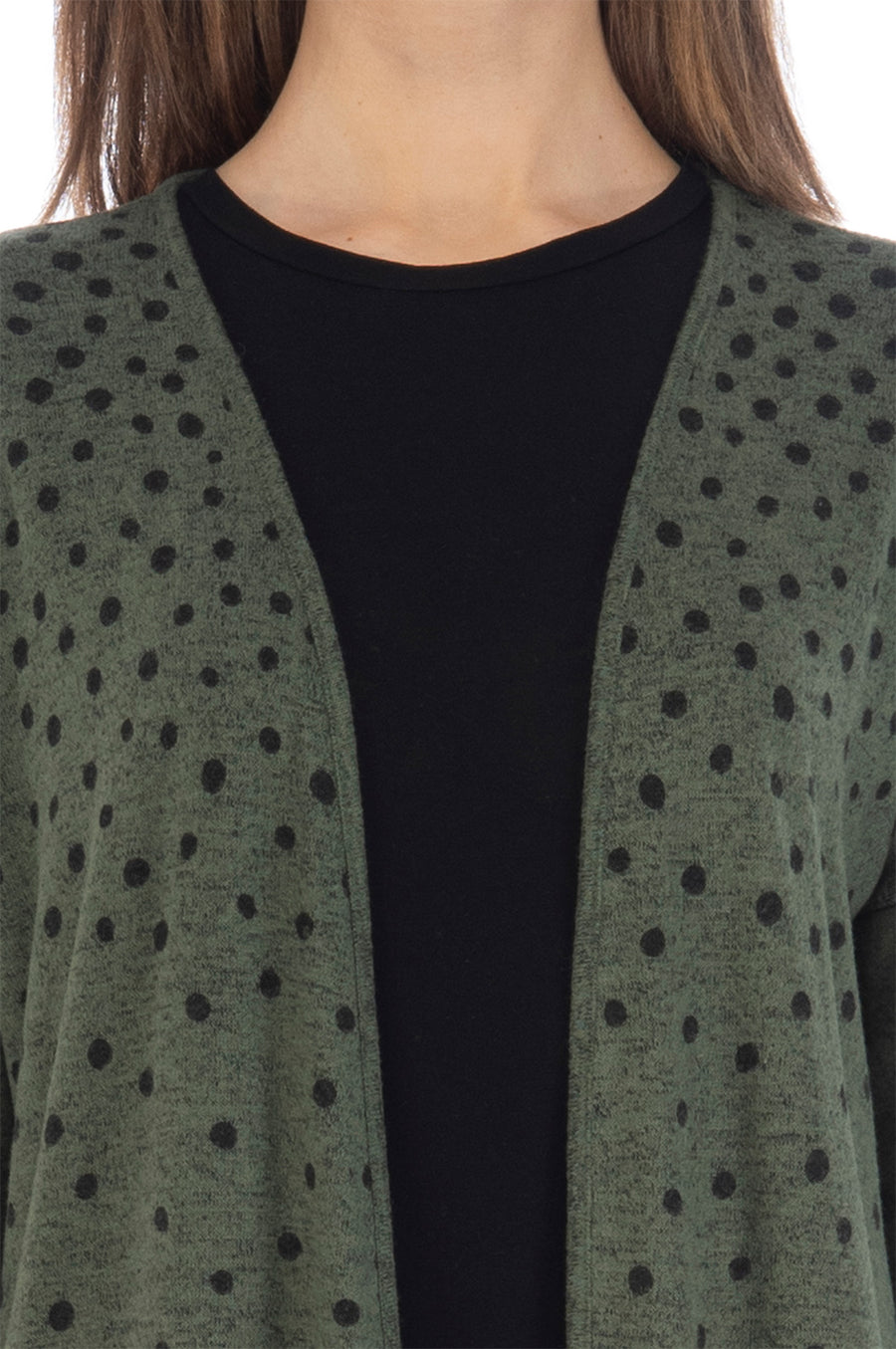 Jean Faded Dot Long Sleeve Cardigan