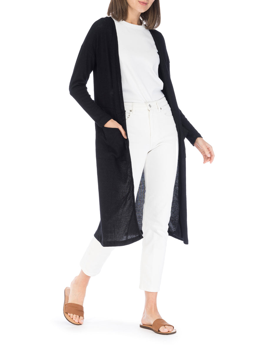 Dean Cozy Ribbed Duster Cardigan