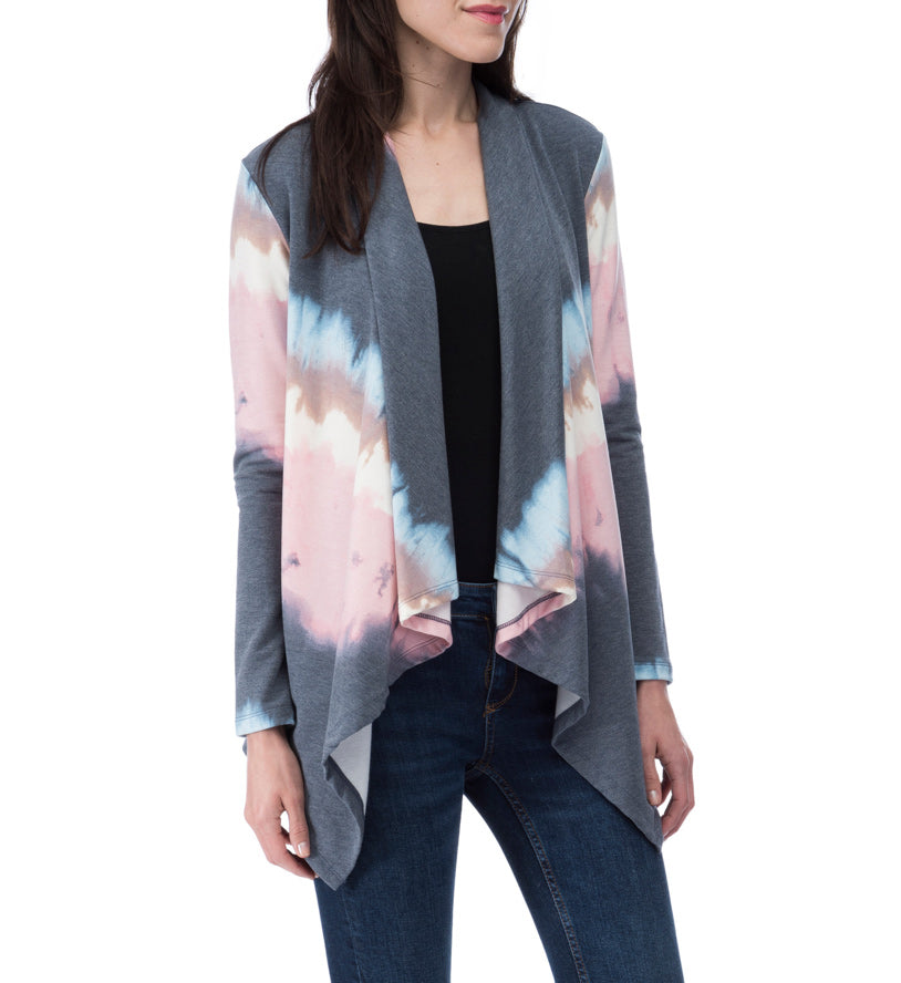 Amie Tie Dye French Terry Cardi