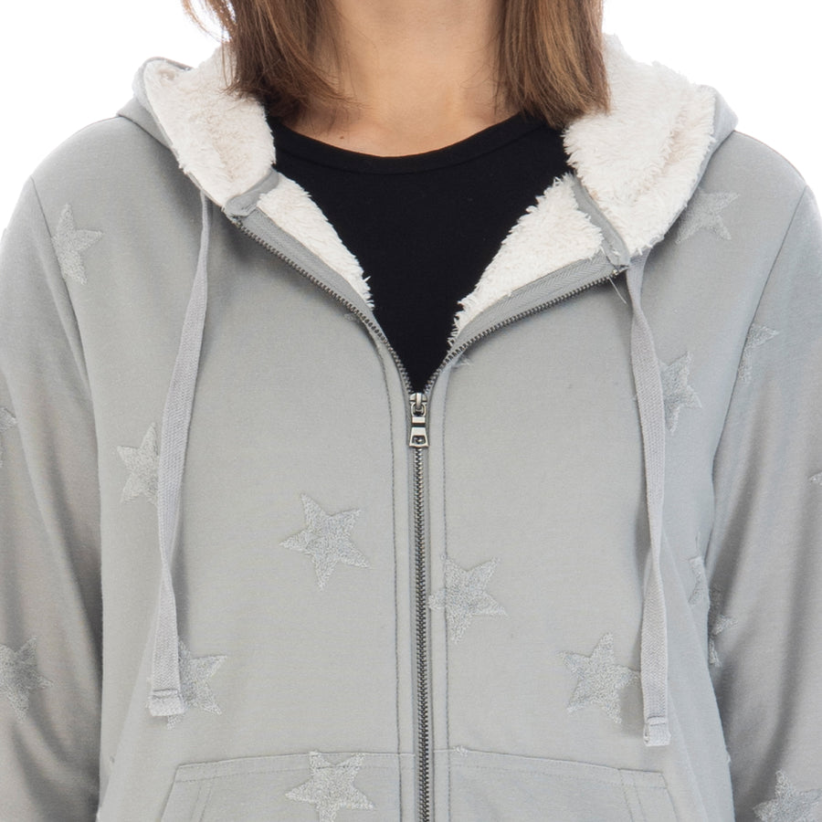 Remington Jacquard Star Zip Up Hoodie