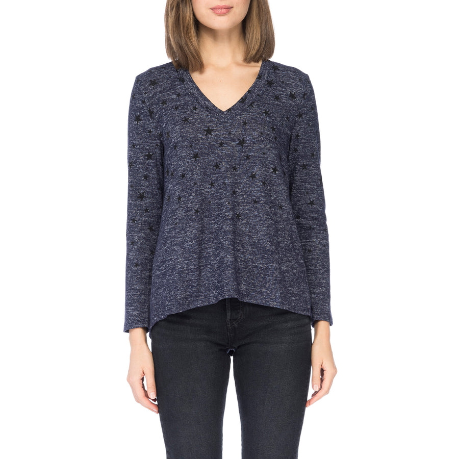 Lisa V-Neck Cozy Top in Faded Star