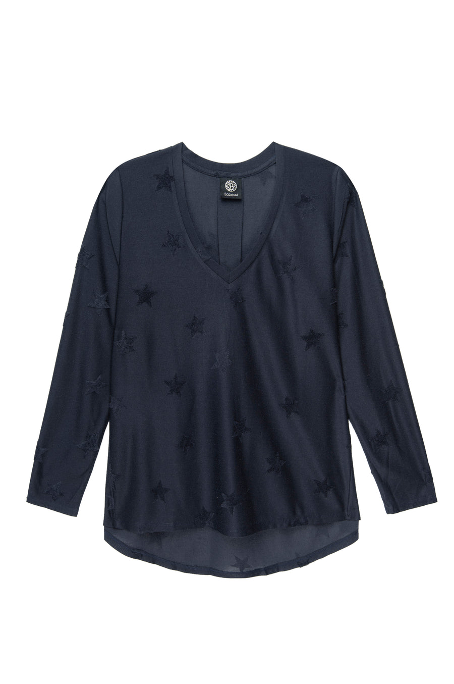 Savannah V-Neck Jacquard Star Top