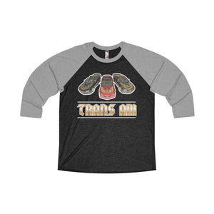 Trans Am Trio by TAW Tri-Blend 3/4 Raglan Tee