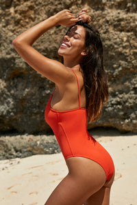 Bahamas One Piece - Red Rib