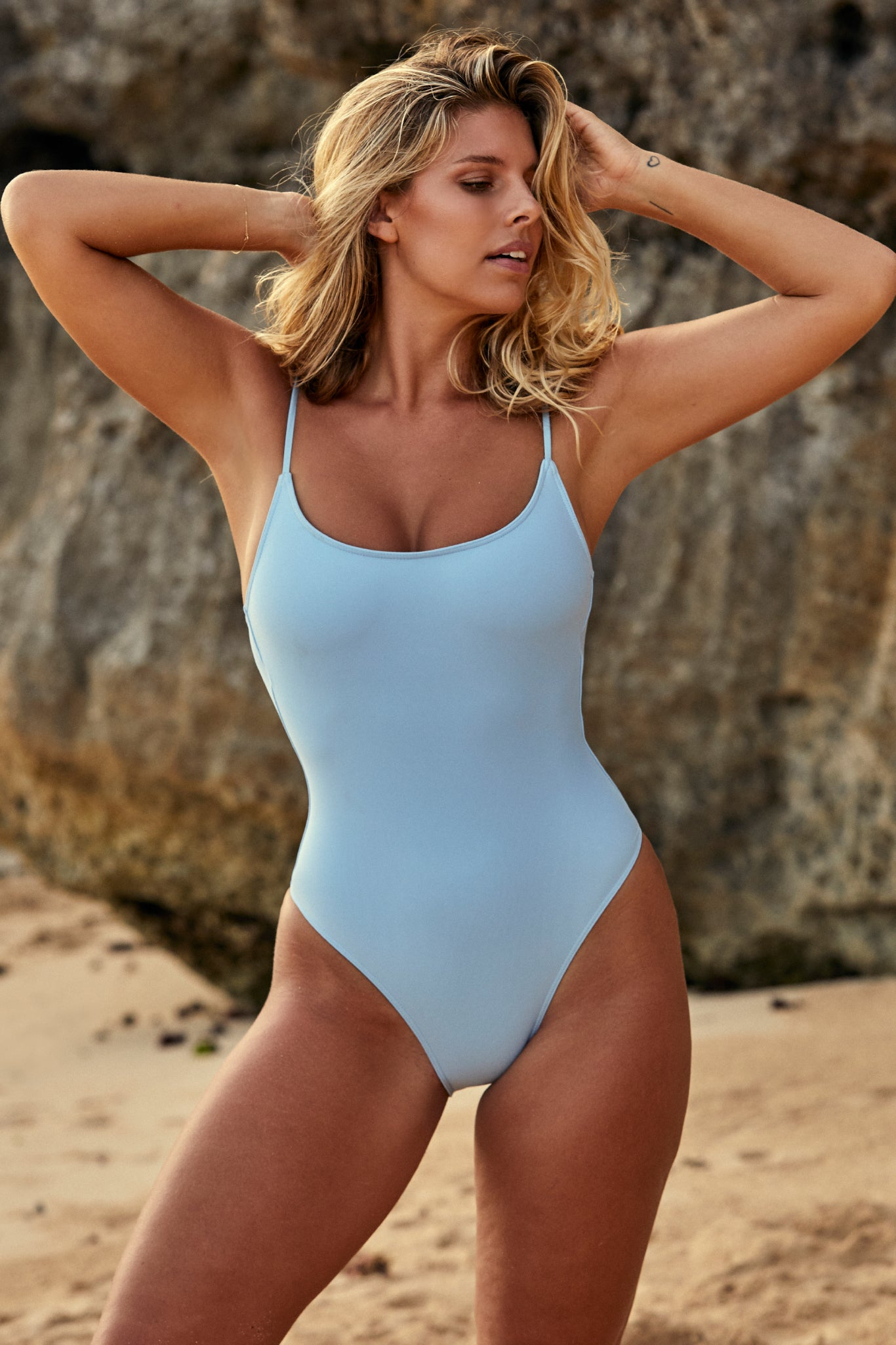 Bahamas One Piece - Sky Blue