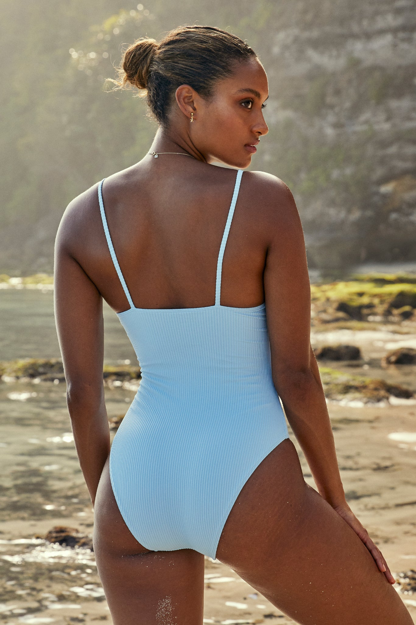 Load image into Gallery viewer, Bahamas One Piece Long - Sky Blue Rib
