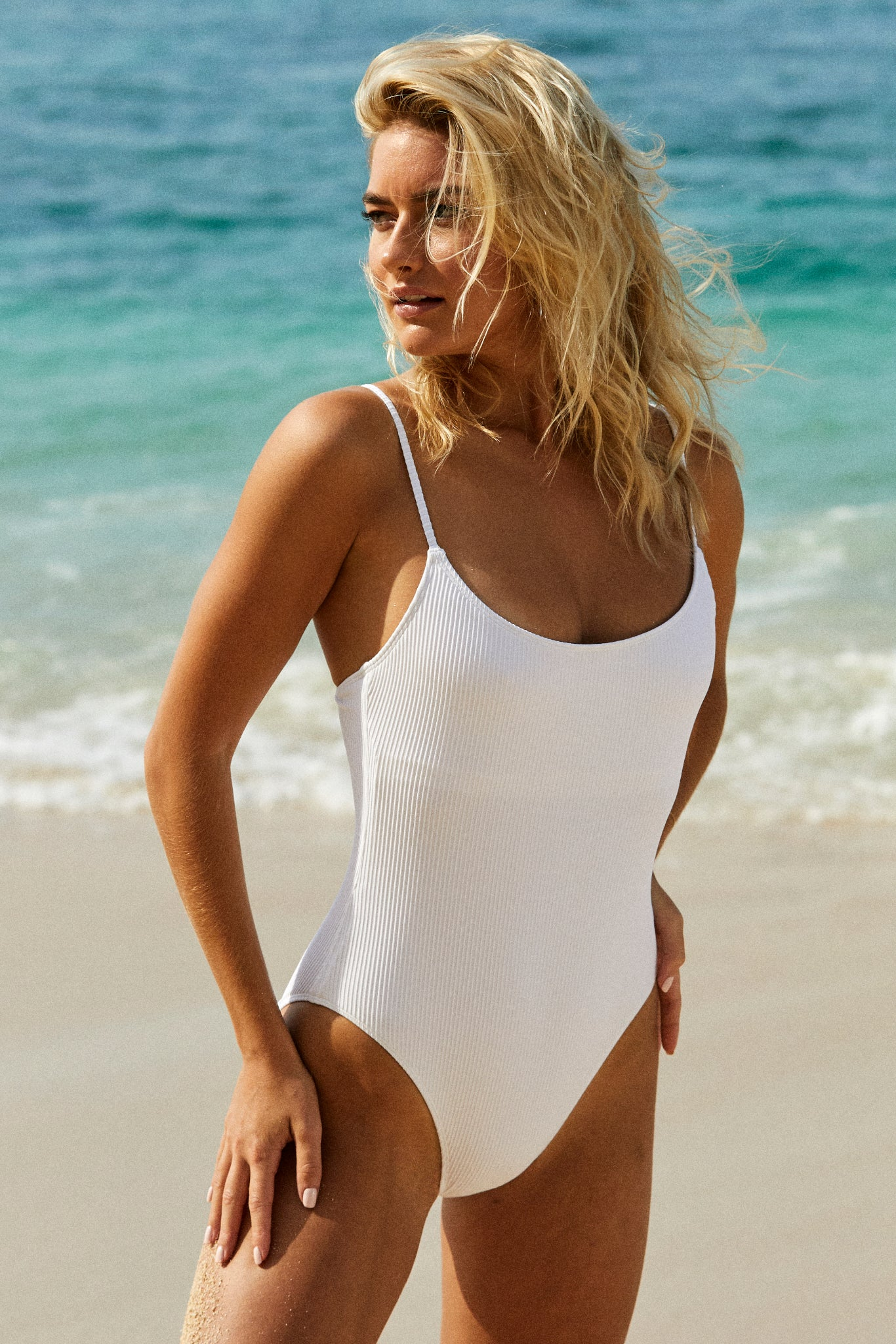 Load image into Gallery viewer, Bahamas One Piece - White Rib