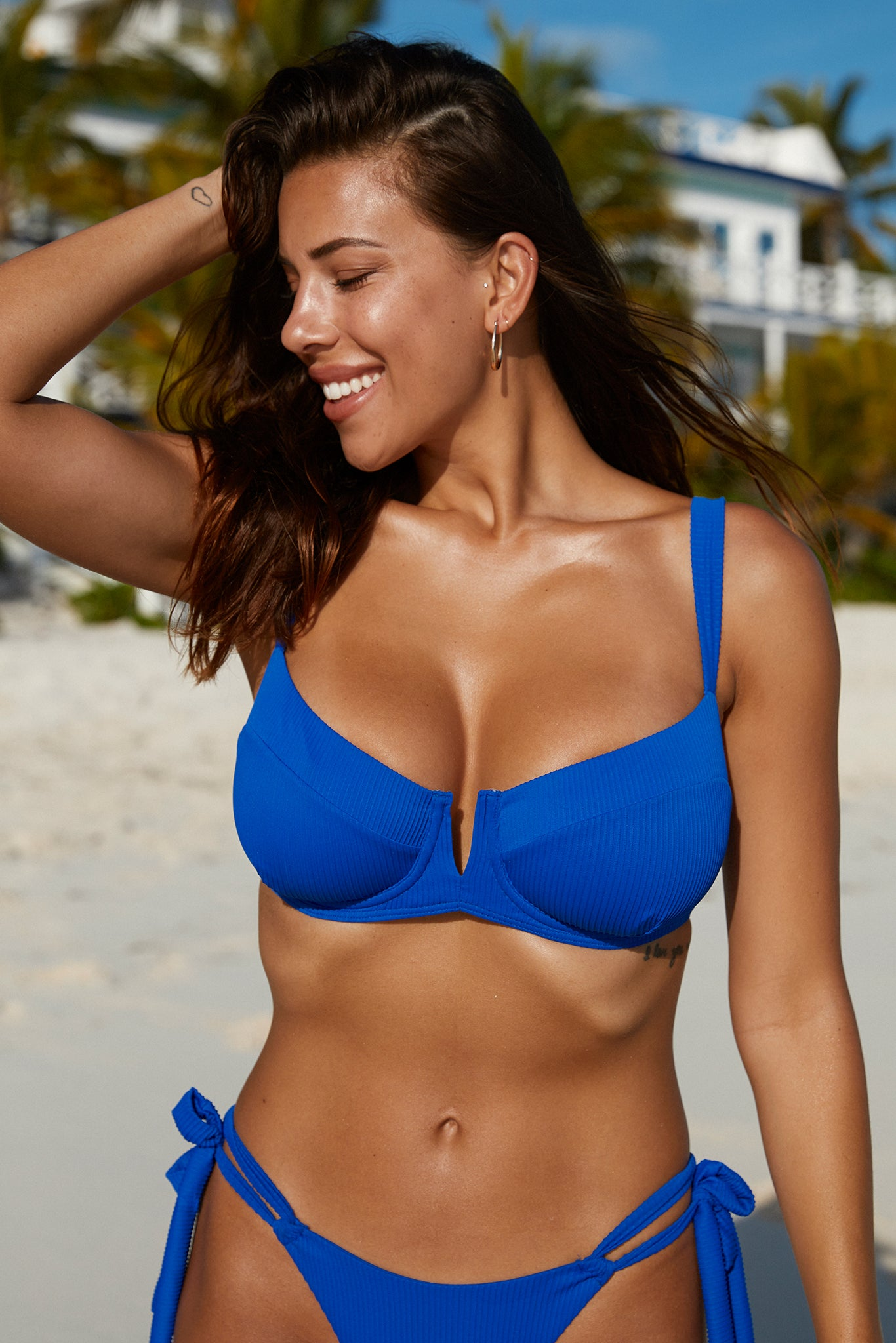 Clovelly Top - Cobalt Rib