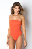 Santorini One Piece - Red Rib