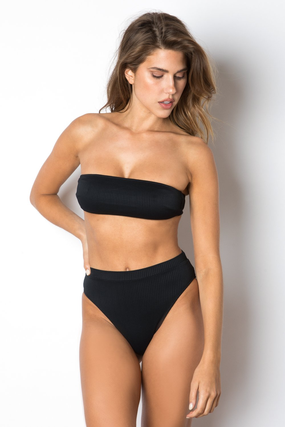 Riviera Bottom - Black Rib