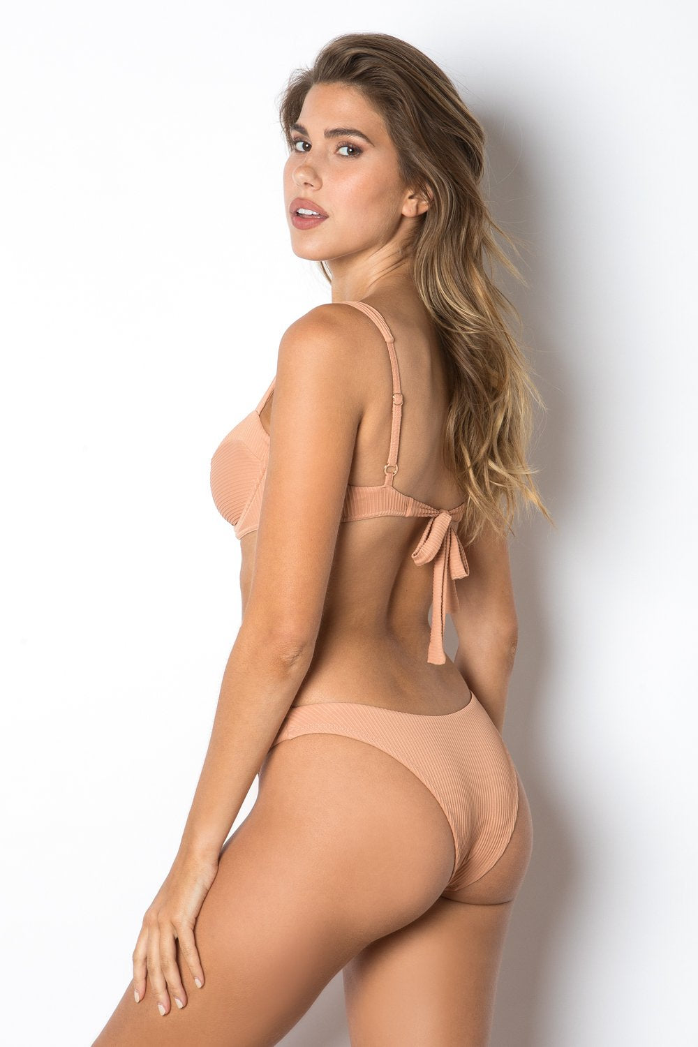 Clovelly Top - Nude Rib