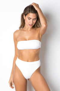 Riviera Bottom - White Rib