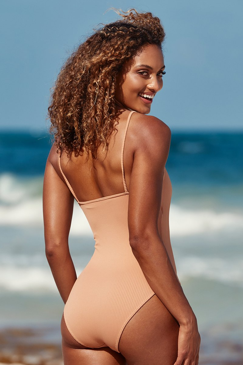 Load image into Gallery viewer, Bahamas One Piece - Nude Rib