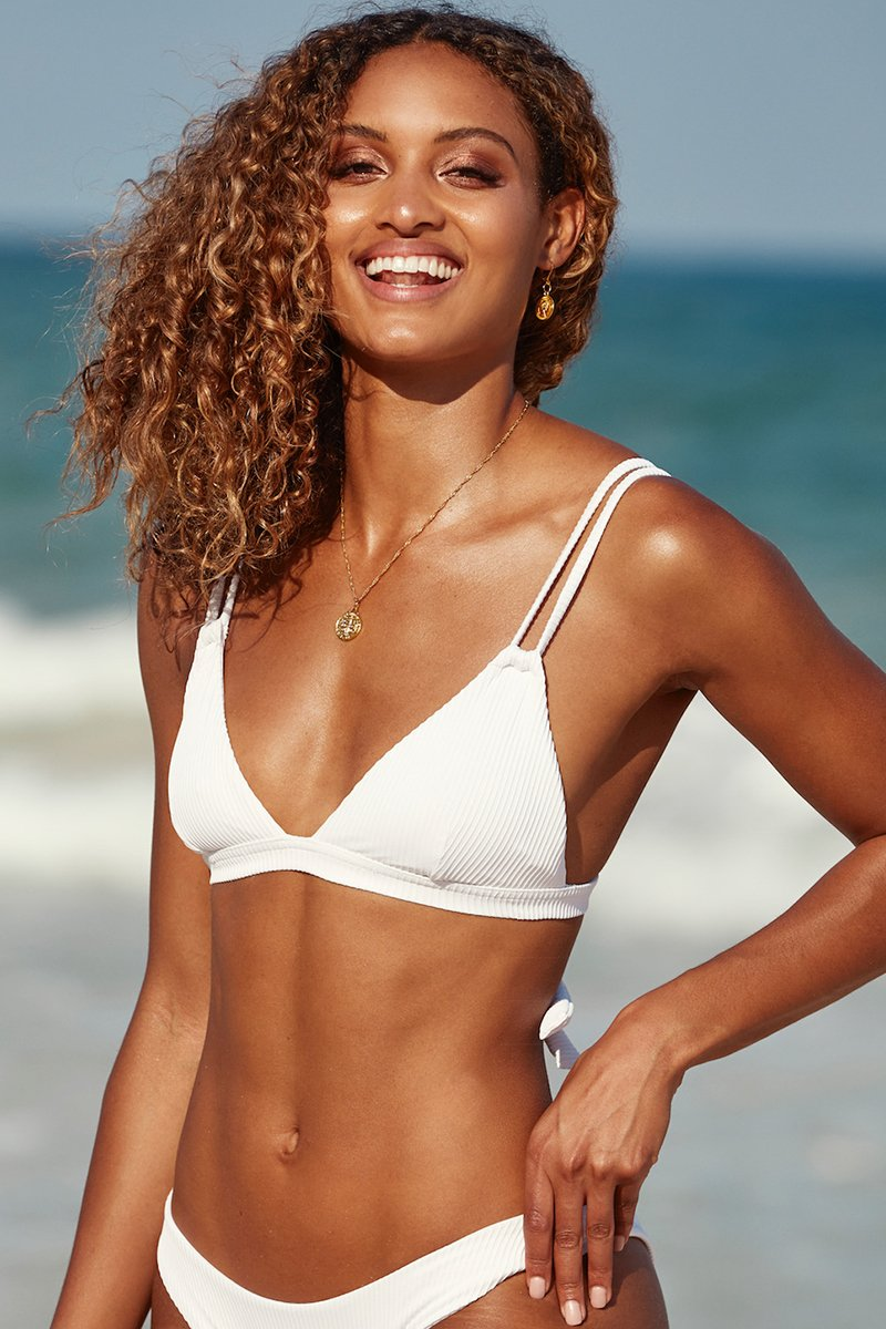 Capri Top - White Rib