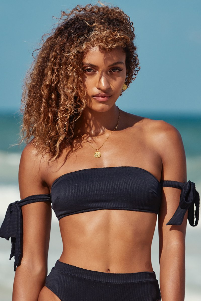 Santorini Top - Black Rib