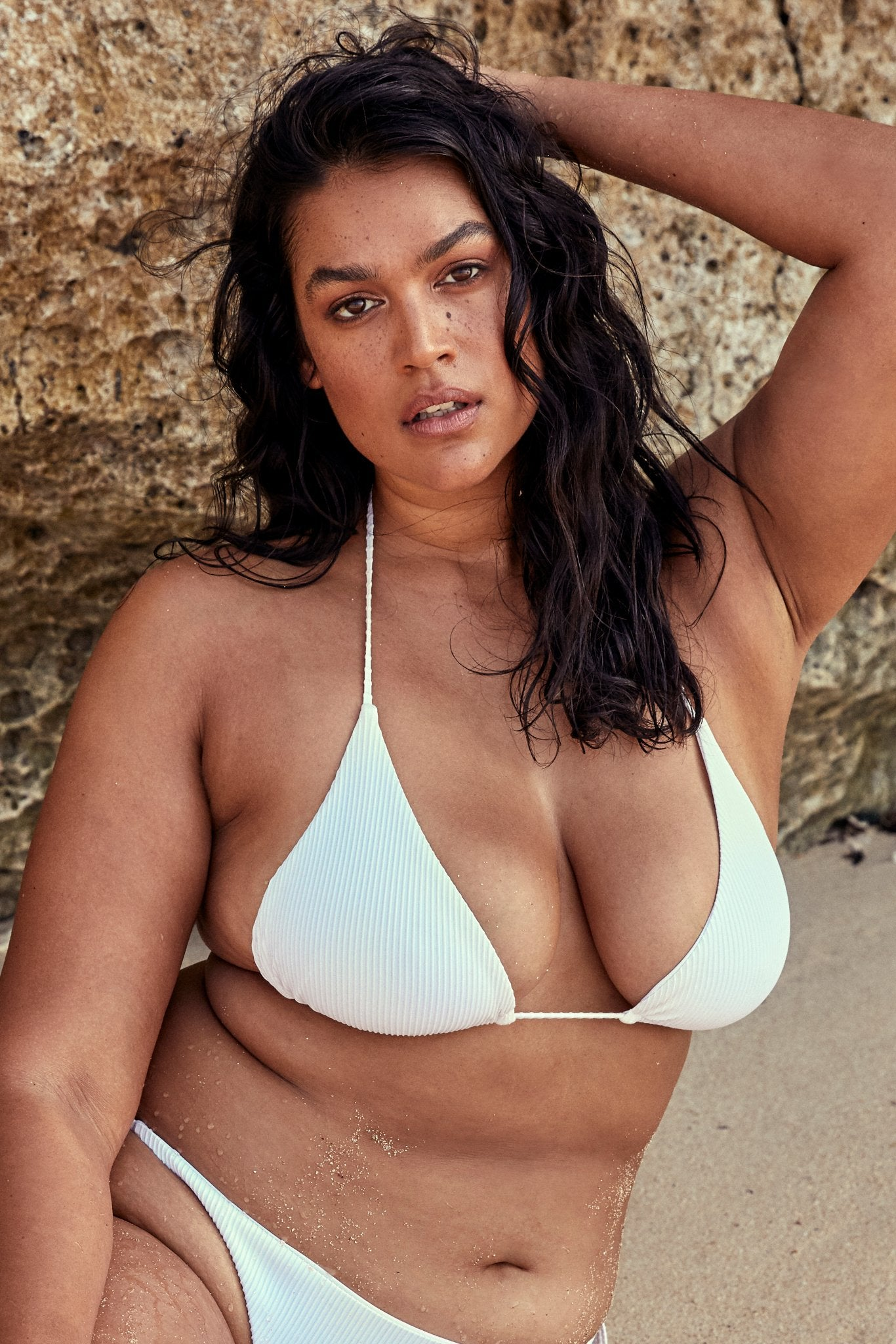 Voluptuous Palma Top - White Rib