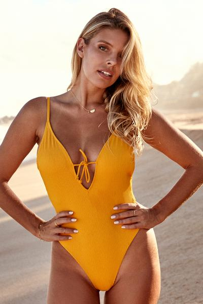 Malibu One Piece - Mango Rib