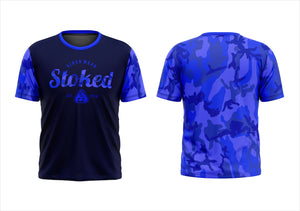 Stoked Rider Wear MTB Jersey Blue Camo