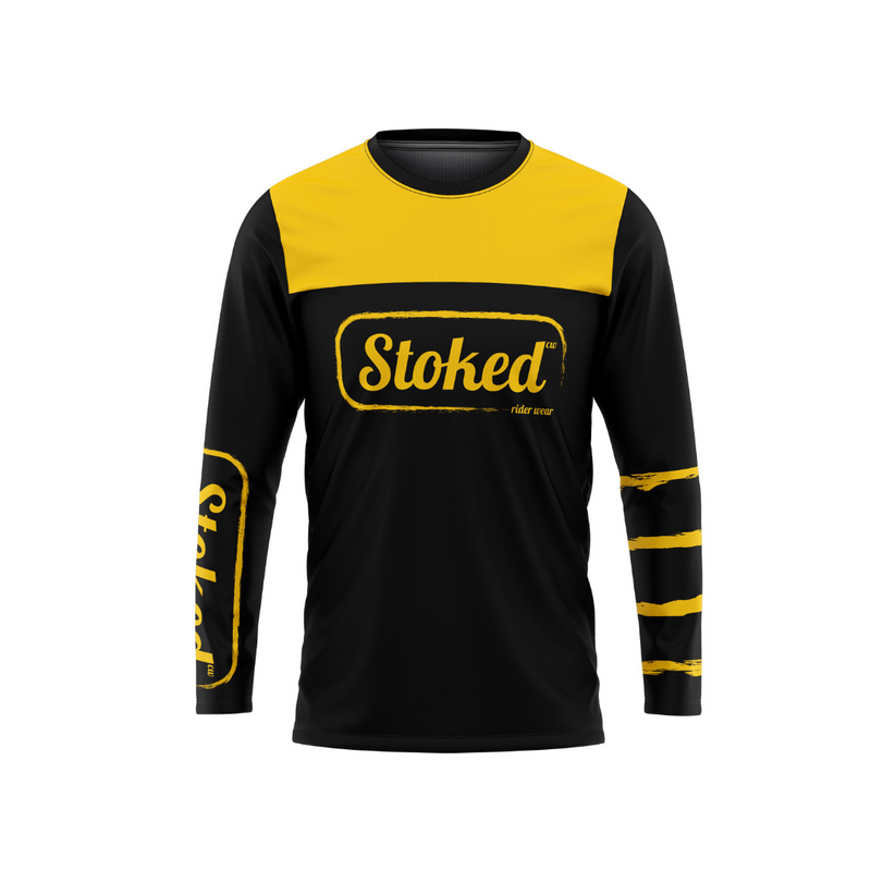 Stoked Rider Wear Yellow/Black MTB Jersey