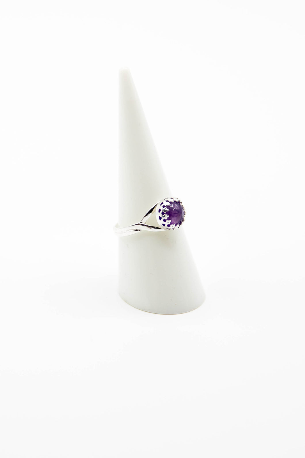 Crowned Amethyst (Available in Silver, Gold or Rose Gold)
