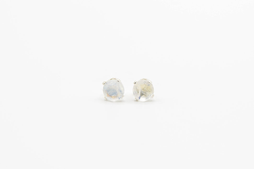 Nova Rainbow Moonstone Studs (Available in Silver or Gold)