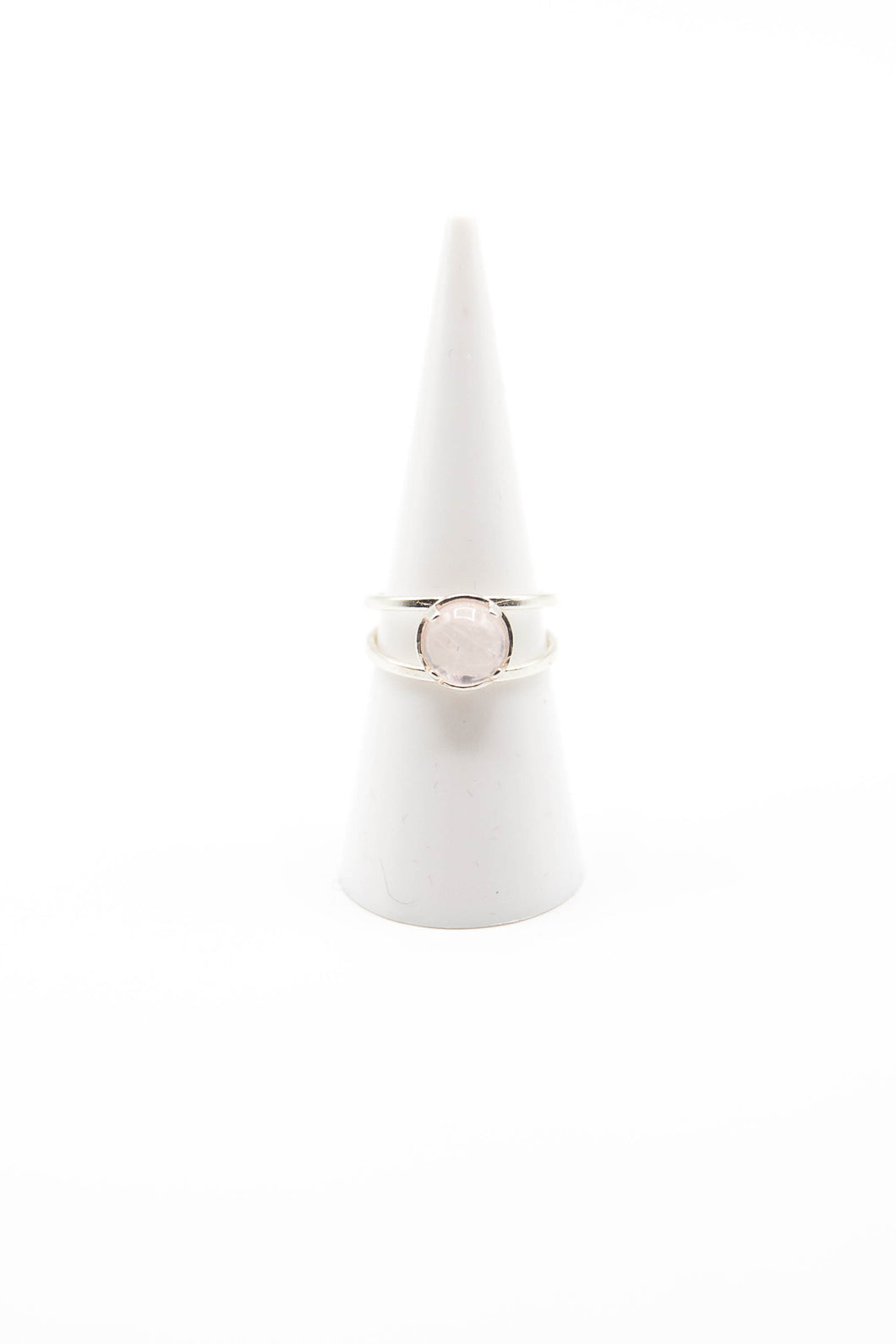 Striped Rose Quartz (Available in Silver, Gold or Rose Gold)