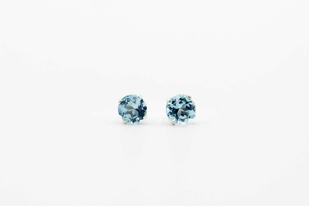Nova Blue Topaz Studs (Available in Silver or Gold)