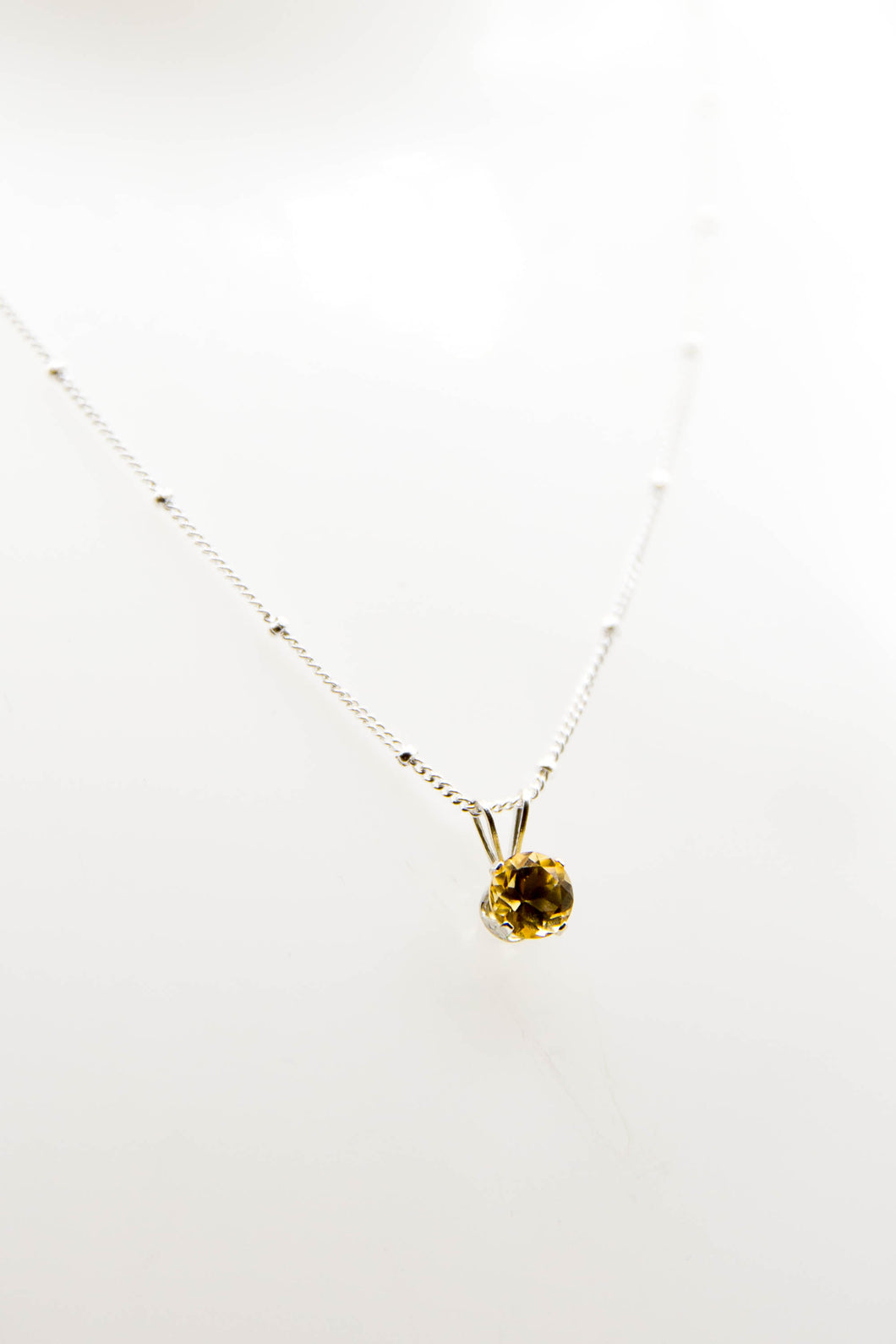 Nova Citrine Necklace (Available in Silver or Gold)