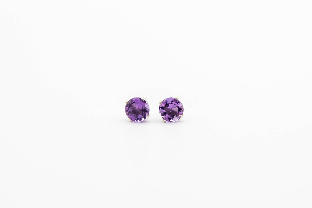 Nova Amethyst Studs (Available in Silver or Gold)