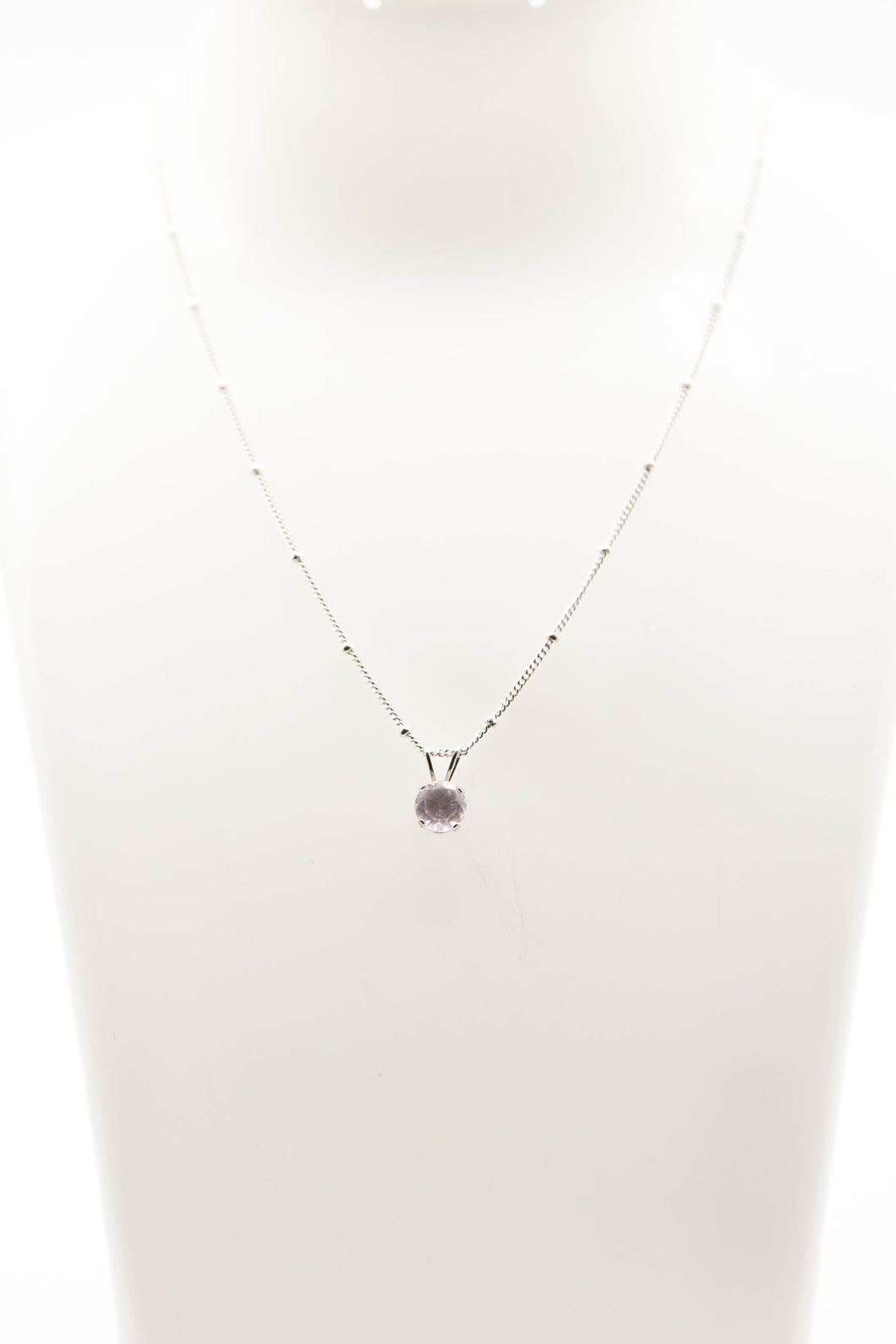 Nova Rose Quartz Necklace (Available in Silver or Gold)