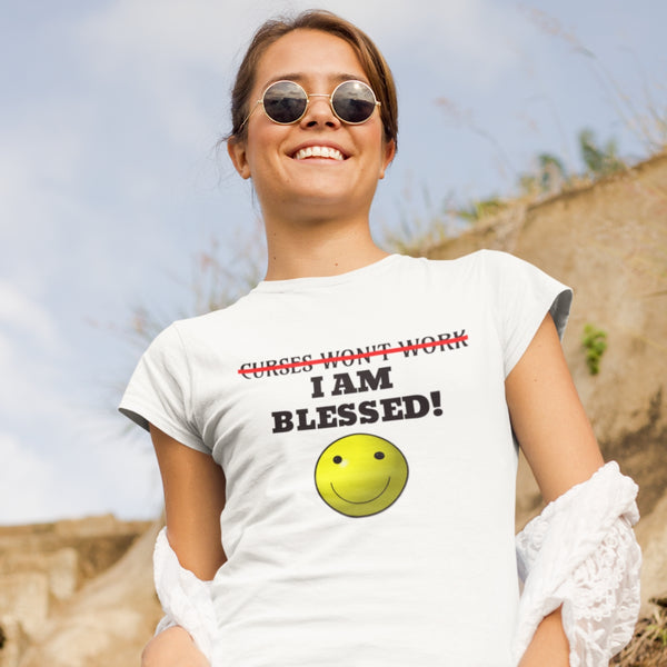 Curses Won't Work Women's Christian Tee | Christian Clothing And Apparel - Kingdom Christian Clothing Store
