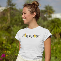 Holy Ghost T-Shirt | Women's Christian Tee | Holy Ghost (Light Colors) - Kingdom Christian Clothing Store